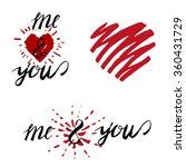 love lettering 13 a | Shutterstock .eps vector #360431729