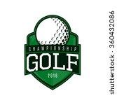 Vector Label Of Golf. Logo Of...