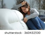 sad girl crying desperately... | Shutterstock . vector #360432530