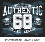 camouflage authentic nyc sport...   Shutterstock .eps vector #360434204