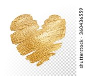 vector gold paint heart on...
