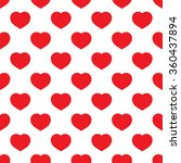 red hearts seamless pattern on... | Shutterstock . vector #360437894