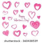 happy valentine's set of pink... | Shutterstock . vector #360438539