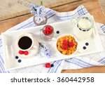 Healthy Breakfast With Milk An...