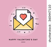 happy valentine's day  flat... | Shutterstock .eps vector #360447110