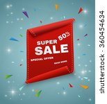 super sale banner. ribbon.... | Shutterstock .eps vector #360454634