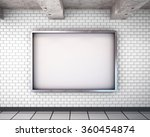 mockup billboard in the subway. ... | Shutterstock . vector #360454874
