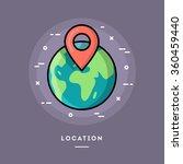 location  flat design thin line ... | Shutterstock .eps vector #360459440