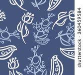 pattern  doodles ellipses ...   Shutterstock . vector #360459584