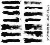 set of grunge vector brushes  ... | Shutterstock .eps vector #360465173