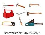 woodworking tools set | Shutterstock .eps vector #360466424