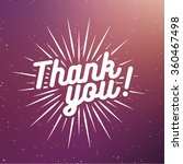 thank you label with sunburst... | Shutterstock .eps vector #360467498