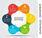 vector circle infographic.... | Shutterstock .eps vector #360469829