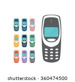 old mobile phones | Shutterstock .eps vector #360474500