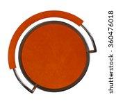 orange bar stool top view  | Shutterstock . vector #360476018