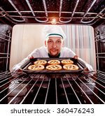 chef prepares pastries in the... | Shutterstock . vector #360476243
