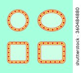 set of geometric frames with... | Shutterstock .eps vector #360484880