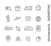 set of line vector icons on the ... | Shutterstock .eps vector #360485546