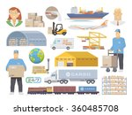 set of flat vector elements on... | Shutterstock .eps vector #360485708