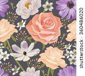 elegance seamless color flower...   Shutterstock .eps vector #360486020