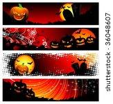 four vector banner on a... | Shutterstock .eps vector #36048607