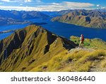 climber on the wanaka lake ... | Shutterstock . vector #360486440