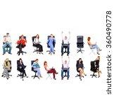 achievement idea clerks... | Shutterstock . vector #360490778
