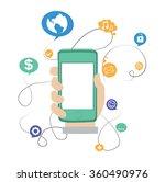 social media network  internet...   Shutterstock .eps vector #360490976