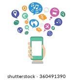 social media network concept ...   Shutterstock .eps vector #360491390