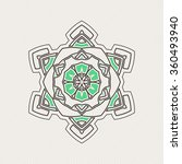vector mandala. gothic lace... | Shutterstock .eps vector #360493940