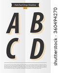 typographic alphabet in a set... | Shutterstock .eps vector #360494270
