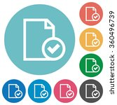 flat document accepted icon set ...