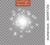 glow light effect. star burst... | Shutterstock .eps vector #360497156