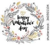 valentine s day lettering... | Shutterstock .eps vector #360501104