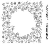 contour wreath with stylized... | Shutterstock .eps vector #360502043