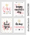valentine s day calligraphic... | Shutterstock .eps vector #360503288