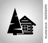 wood house icon | Shutterstock .eps vector #360506090