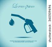 gun for fuel pump with a drop... | Shutterstock .eps vector #360509696
