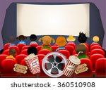 Постер, плакат: Cinema hall Empty cinema