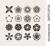 set of ornate vector mandala... | Shutterstock .eps vector #360513926