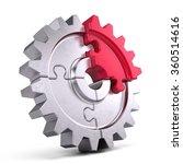 gear puzzle   business teamwork ...   Shutterstock . vector #360514616