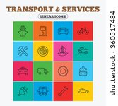 transport and services icons.... | Shutterstock . vector #360517484
