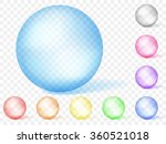 set of multicolored transparent ...   Shutterstock .eps vector #360521018