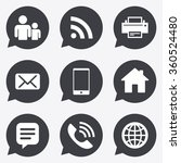 contact  mail icons.... | Shutterstock . vector #360524480