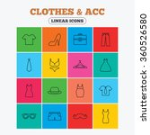 clothes and accessories icons.... | Shutterstock . vector #360526580