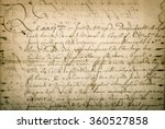 antique letter with handwritten ... | Shutterstock . vector #360527858