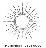 linear drawing of sun. vintage... | Shutterstock .eps vector #360530906