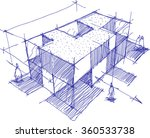 hand drawn architectural sketch ... | Shutterstock .eps vector #360533738
