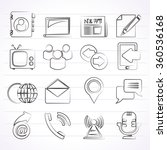 media and communication icons   ... | Shutterstock .eps vector #360536168