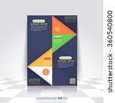 business a4 flyer and brochure. ... | Shutterstock .eps vector #360540800